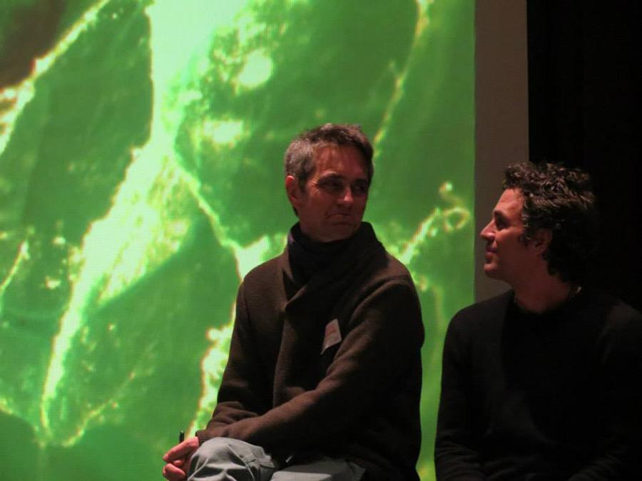 Mark Ruffalo speaks at BHS about local water defense.