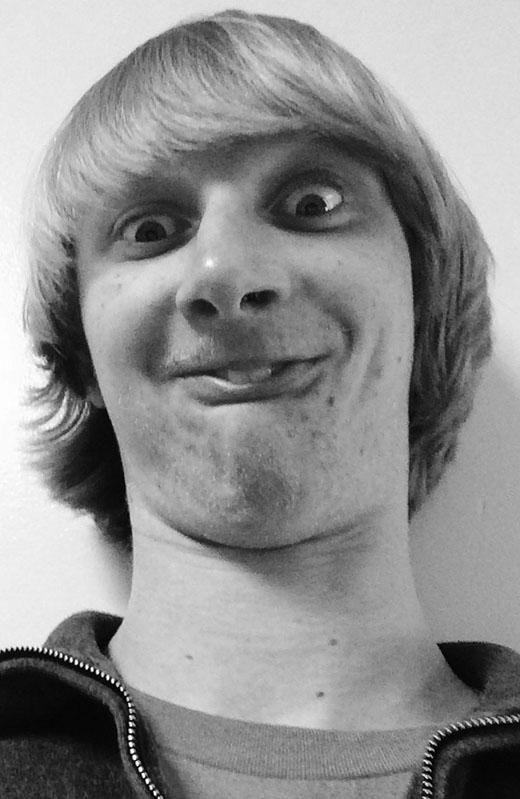 Senior Nate Winslow attempts an ugly selfie.