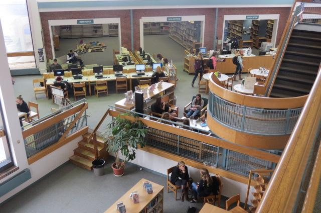 Although the library is often bustling with students, new plans are in the works for a complete remodel to include a cafe and brand new commons area.