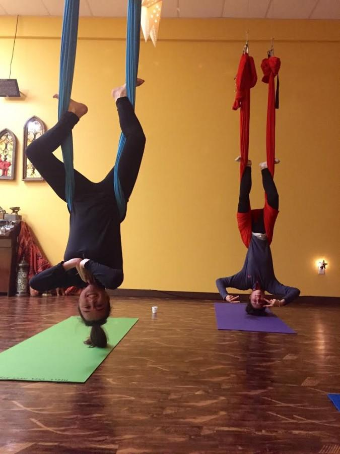 Maggie McNulty and Halee Murphy risk their lives venturing into the popular, yet daunting world of aerial yoga.