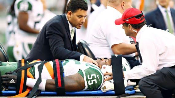 Lorenzo Mauldin, New York Jets linebacker, sustained a concussion during the first week of the NFL season and began an ongoing discussion about the treatment of concussions.