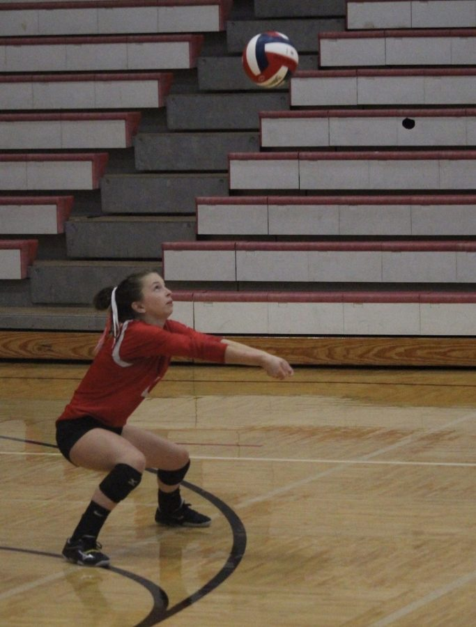 Kenzie playing volleyball last Fall
