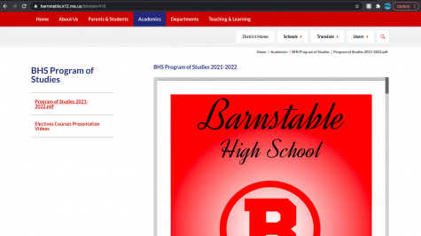 The Program of Studies guide is available to students under the Academics tab on the BHS website.