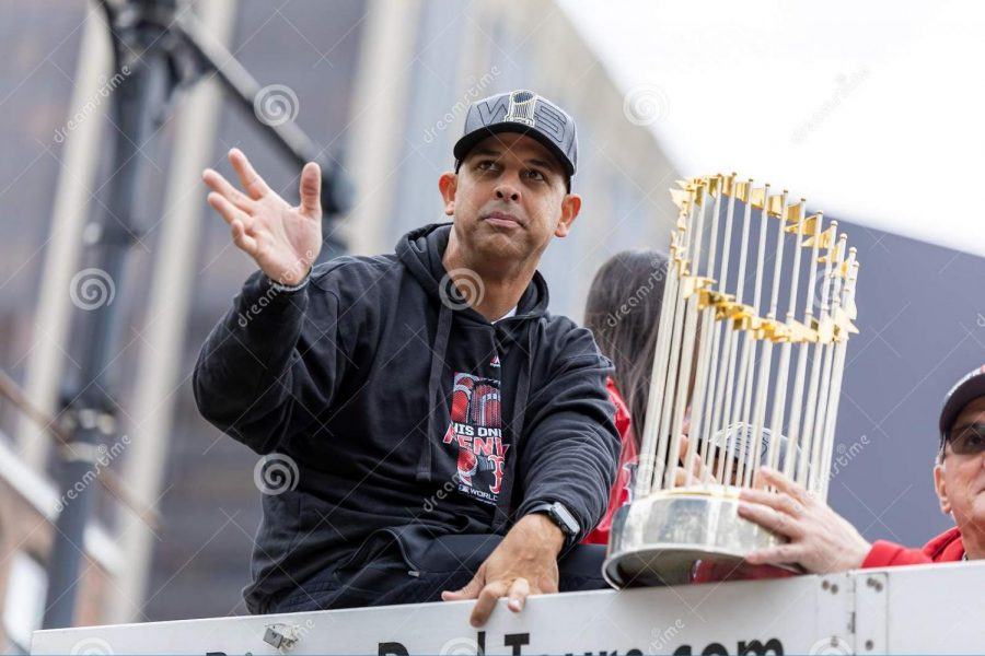 Alex Cora is back in Boston and hopes to bring another World Series Trophy home.