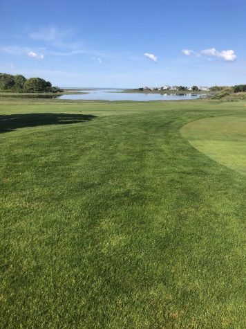 A lot of work goes into making courses look like this one at Hyannis Ports  fourth hole.